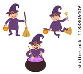 set of isolated witch   Shutterstock .eps vector #1183806409