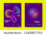 music wave poster. party flyer... | Shutterstock .eps vector #1183807753