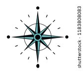 north star compass to... | Shutterstock .eps vector #1183808083