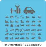 cars icons set  vector | Shutterstock .eps vector #118380850