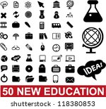 50 education   school icons set ... | Shutterstock .eps vector #118380853