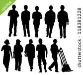 labor silhouette vector | Shutterstock .eps vector #118381228