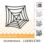 spider web thin line icon.... | Shutterstock .eps vector #1183813780
