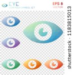 eye geometric polygonal icons.... | Shutterstock .eps vector #1183815013