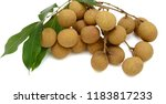 fresh longan fruits isolated on ... | Shutterstock . vector #1183817233
