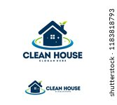 clean house logo designs with... | Shutterstock .eps vector #1183818793