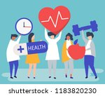 healthy people carrying... | Shutterstock .eps vector #1183820230