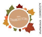 happy thanksgiving day | Shutterstock .eps vector #1183825279
