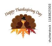 happy thanksgiving day | Shutterstock .eps vector #1183825303