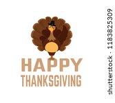 happy thanksgiving day | Shutterstock .eps vector #1183825309