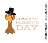 happy thanksgiving day | Shutterstock .eps vector #1183825330