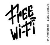 free wi fi. handwritten... | Shutterstock .eps vector #1183825606
