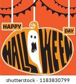 happy halloween day backgroung | Shutterstock .eps vector #1183830799