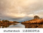 early morning view of waterway... | Shutterstock . vector #1183833916