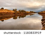 early morning view of waterway... | Shutterstock . vector #1183833919