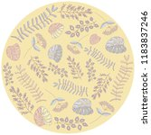 round card with illustrations... | Shutterstock .eps vector #1183837246