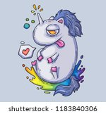 funny fairy unicorn. cartoon... | Shutterstock .eps vector #1183840306