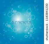bubble in water vector on blue...   Shutterstock .eps vector #1183841230