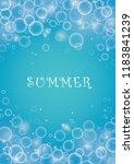 bubble in water vector on blue...   Shutterstock .eps vector #1183841239