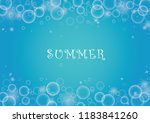 bubble in water vector on blue...   Shutterstock .eps vector #1183841260