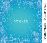 bubble in water vector on blue...   Shutterstock .eps vector #1183841263