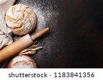 homemade crusty bread cooking... | Shutterstock . vector #1183841356
