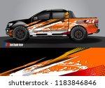 truck decal wrap design vector. ... | Shutterstock .eps vector #1183846846