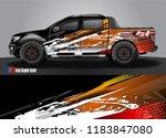truck decal wrap design vector. ... | Shutterstock .eps vector #1183847080