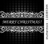 Merry Christmas vector card background - stock vector