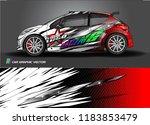car decal wrap design vector.... | Shutterstock .eps vector #1183853479