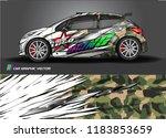 car decal wrap design vector....   Shutterstock .eps vector #1183853659