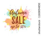 autumn sale colorful concept.... | Shutterstock .eps vector #1183854850