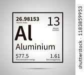 aluminium chemical element with ... | Shutterstock .eps vector #1183859953