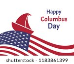happy columbus day greeting... | Shutterstock .eps vector #1183861399