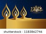 happy diwali. indian diya oil... | Shutterstock .eps vector #1183862746