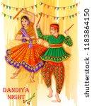 vector design of indian couple... | Shutterstock .eps vector #1183864150