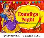 vector design of indian couple... | Shutterstock .eps vector #1183864153