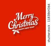 raster version. merry christmas ...   Shutterstock . vector #1183864366