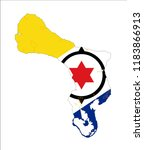 map of bonaire  netherlands ... | Shutterstock .eps vector #1183866913