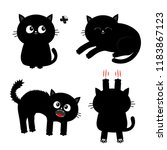 cat set. nail claw scratch ... | Shutterstock .eps vector #1183867123
