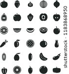 solid black flat icon set... | Shutterstock .eps vector #1183868950