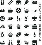 solid black flat icon set... | Shutterstock .eps vector #1183869166