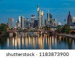 skyline of frankfurt am main... | Shutterstock . vector #1183873900