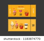 coupon fast food. gift voucher... | Shutterstock . vector #1183874770