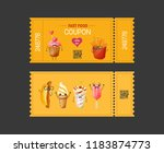 coupon fast food. gift voucher... | Shutterstock . vector #1183874773
