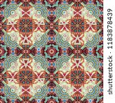 ethnic colorful doodle texture. ... | Shutterstock . vector #1183878439