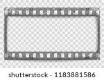 gray scratched grunge film... | Shutterstock .eps vector #1183881586