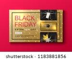 vector black friday sale banner ... | Shutterstock .eps vector #1183881856