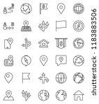 thin line vector icon set  ... | Shutterstock .eps vector #1183883506
