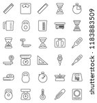 thin line vector icon set  ... | Shutterstock .eps vector #1183883509